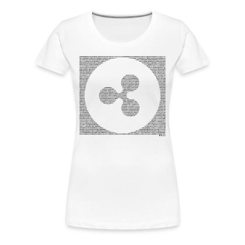 Binary XRP - Women's Premium T-Shirt