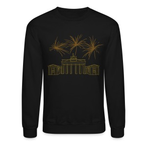 Berlin fireworks New Year's Eve at the Brandenburg Gate. - Crewneck Sweatshirt