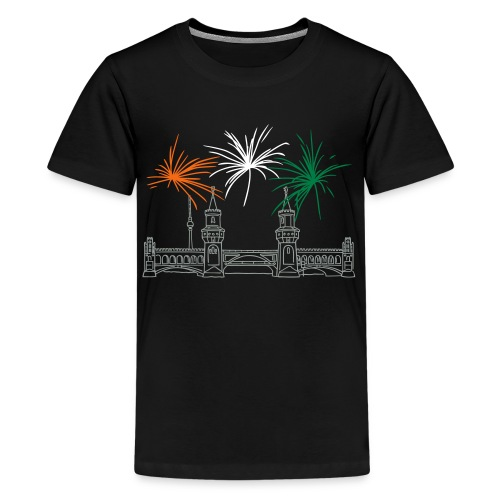 Berlin fireworks New Year's Eve at Oberbaum Bridge - Kids' Premium T-Shirt