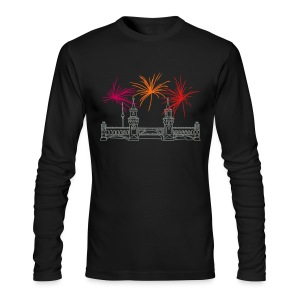 Berlin fireworks New Year's Eve at Oberbaum Bridge - Men's Long Sleeve T-Shirt by Next Level