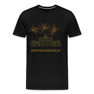 Berlin fireworks New Year's Eve at the Brandenburg Gate. - Men's Premium T-Shirt