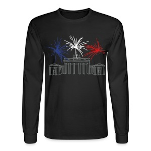 Berlin fireworks New Year's Eve at the Brandenburg Gate. - Men's Long Sleeve T-Shirt