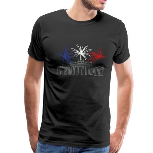 Berlin fireworks New Year's Eve at the Brandenburg Gate. - Men's Premium T-Shirt
