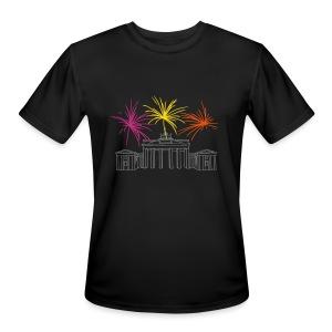 Berlin fireworks New Year's Eve at the Brandenburg Gate. - Men's Moisture Wicking Performance T-Shirt