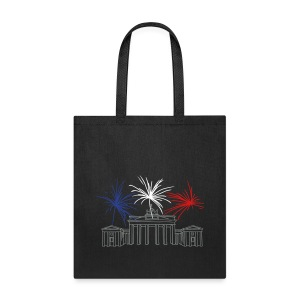Berlin fireworks New Year's Eve at the Brandenburg Gate. - Tote Bag