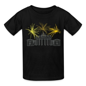 Berlin fireworks New Year's Eve at the Brandenburg Gate. - Kids' T-Shirt