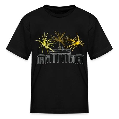 Berlin fireworks New Year's Eve at the Brandenburg Gate. - Kids' T-Shirt