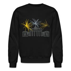 Berlin fireworks New Year's Eve at the Brandenburg Gate. - Crewneck Sweatshirt