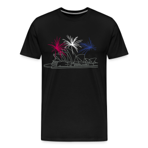 Fireworks at Opera house New Year's Eve in Sydney - Men's Premium T-Shirt