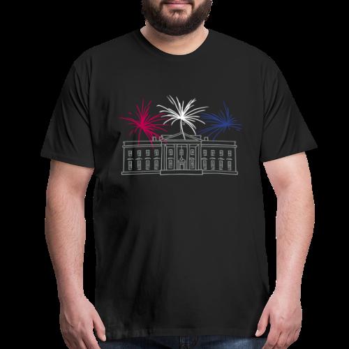 Fireworks at White House New Year's Eve in Washington - Men's Premium T-Shirt