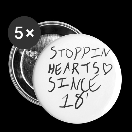Stoppin' Hearts Pin Large - Large Buttons