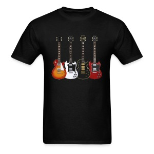 Four Gibson Guitars - Men's T-Shirt
