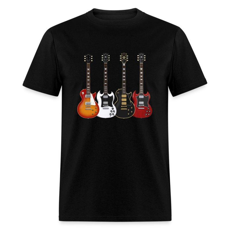 Four Gibson Guitars - Men's T-Shirt