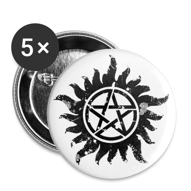 Broken Anti-Possession Symbol Dark | Buttons small 1'' (5-pack)