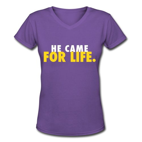 For Life Women's Tee - Women's V-Neck T-Shirt