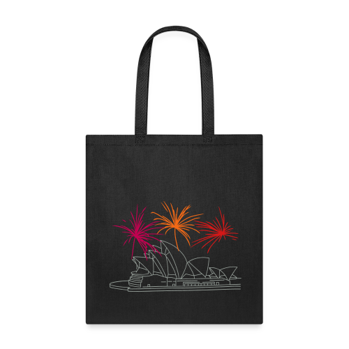 Fireworks at Opera house New Year's Eve in Sydney - Tote Bag