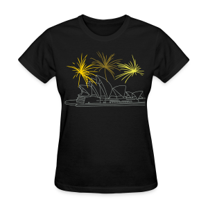Fireworks at Opera house New Year's Eve in Sydney - Women's T-Shirt