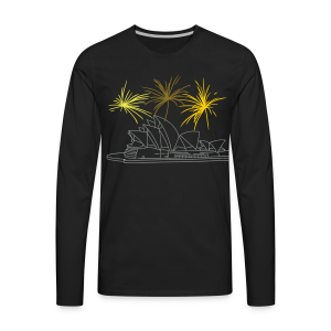 Fireworks at Opera house New Year's Eve in Sydney - Men's Premium Long Sleeve T-Shirt
