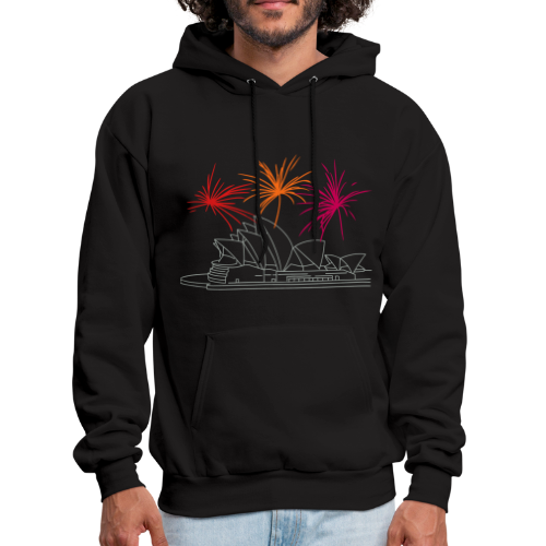 Fireworks at Opera house New Year's Eve in Sydney - Men's Hoodie