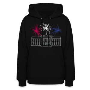Fireworks at White House New Year's Eve in Washington - Women's Hoodie