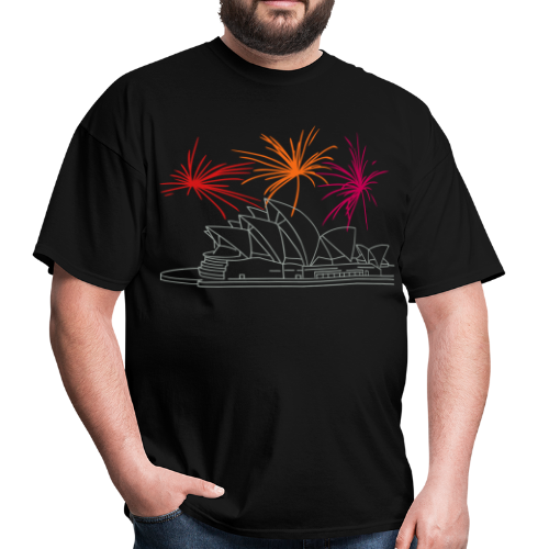 Fireworks at Opera house New Year's Eve in Sydney - Men's T-Shirt