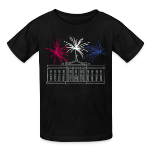 Fireworks at White House New Year's Eve in Washington - Kids' T-Shirt
