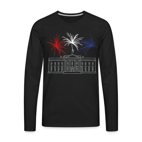 Fireworks at White House New Year's Eve in Washington - Men's Premium Long Sleeve T-Shirt