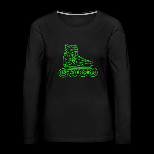 Inline Roller Skates - Women's Premium Long Sleeve T-Shirt