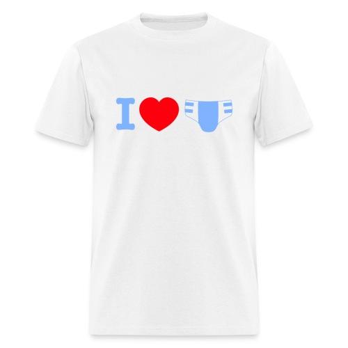 I love diapers T-shirt - Men's T-Shirt