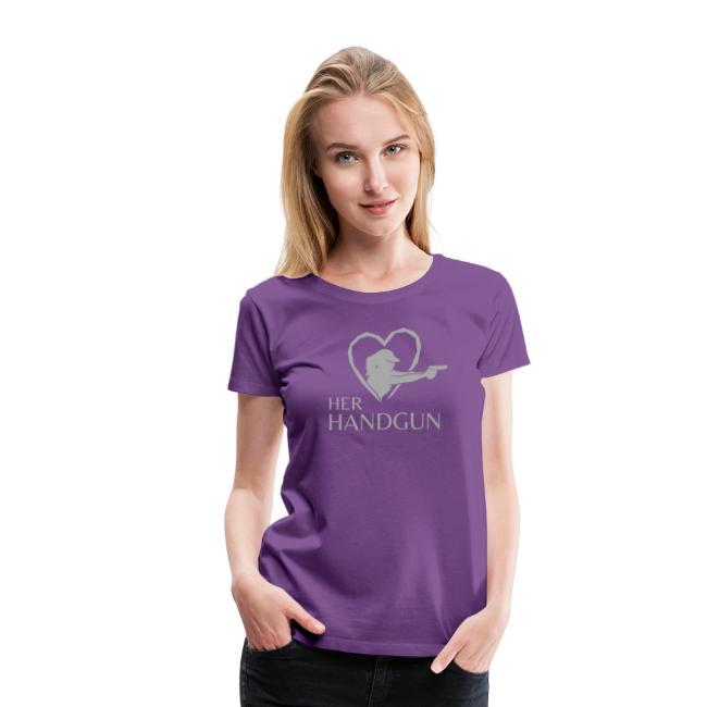 HerHandgun SPARKLY SILVER Logo - Short Sleeve Tee