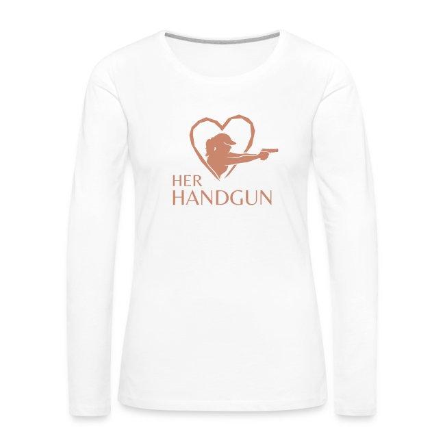 HerHandgun SPARKLY PINK Logo - Long Sleeve Tee