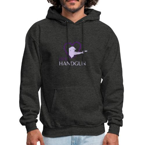 HerHandgun 2-Tone Purple Logo - The Ashley Hoodie - Men's Hoodie