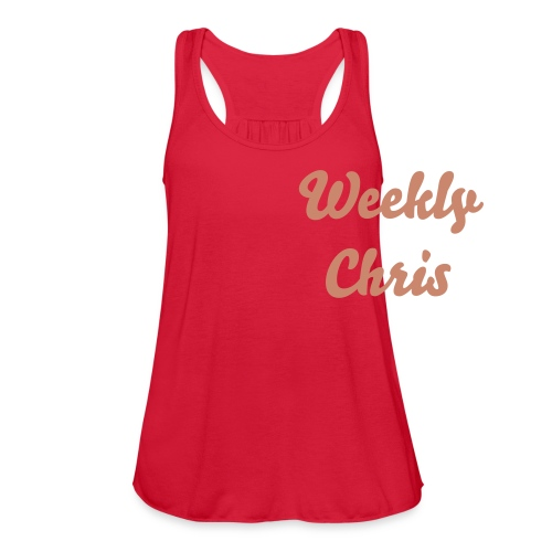 Weekly Chris Sparkly Pink - Women's Flowy Tank Top by Bella