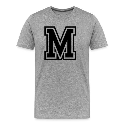 Letter M Monogram Initial College - Men's Premium T-Shirt