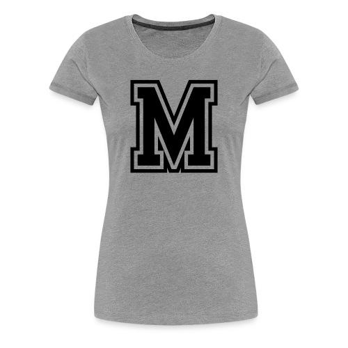 Letter M Monogram Initial College - Women's Premium T-Shirt