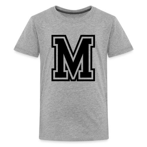 Letter M Monogram Initial College - Kids' Premium T-Shirt