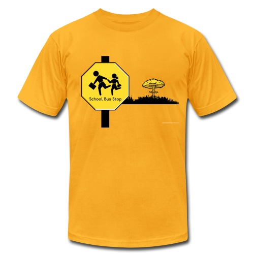 Nuclear Bomb School Sign  - Men's Fine Jersey T-Shirt