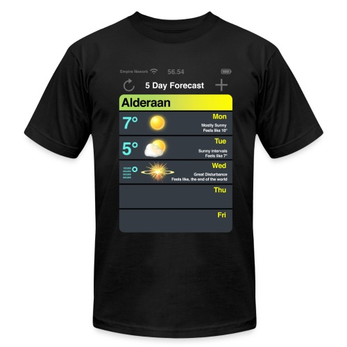 Alderaan 5 day Forecast  - Men's Fine Jersey T-Shirt