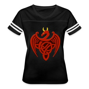 Red Celtic Trinity Knot Dragon Shirt - Women's Vintage Sport T-Shirt