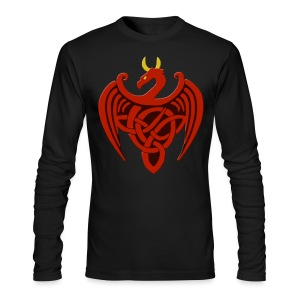 Red Celtic Trinity Knot Dragon Long Sleeve Shirt - Men's Long Sleeve T-Shirt by Next Level