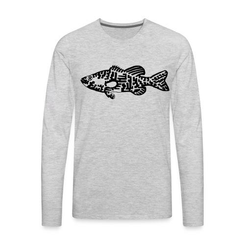 Men's Premium Long Sleeve T-Shirt Bass - Men's Premium Long Sleeve T-Shirt