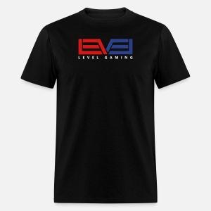 Level Gaming Tee - White Print - Men's T-Shirt