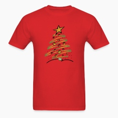 Abstract Xmas Tree Men's Shirt