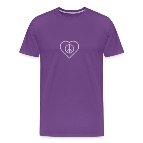 Peace Heart - Lavender on Purple - Men's Premium T-Shirt