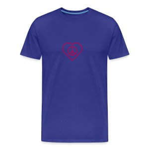 Peace Heart  - Magenta on Royal Blue - Men's Premium T-Shirt