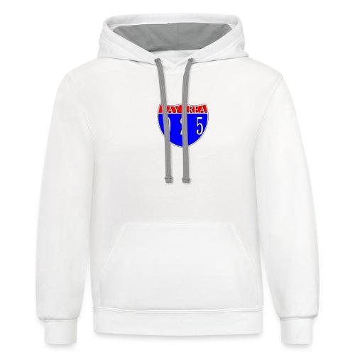 925 area-code hoodie (unisex) 1 side print - Contrast Hoodie