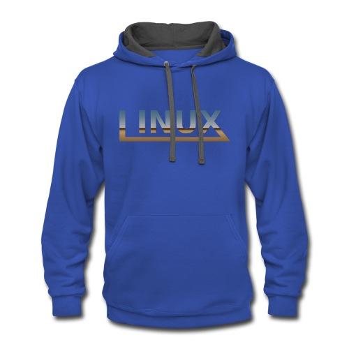 Linux - Contrast Hoodie