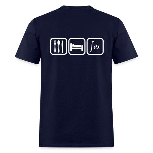 T shirt maths humor, eat, sleep, calculate - Men's T-Shirt