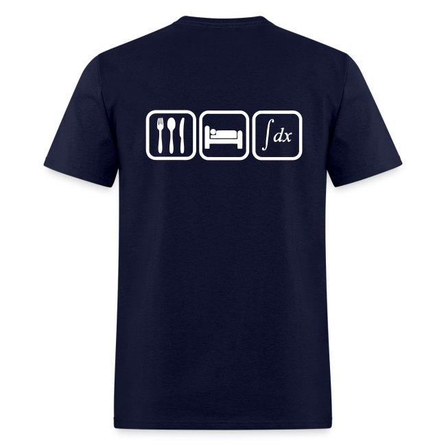 T shirt maths humor, eat, sleep, calculate