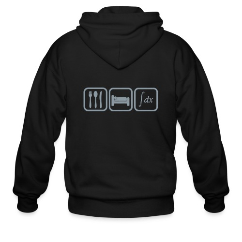 Sweat shirt maths humor, eat, sleep, calculate - Men's Zip Hoodie